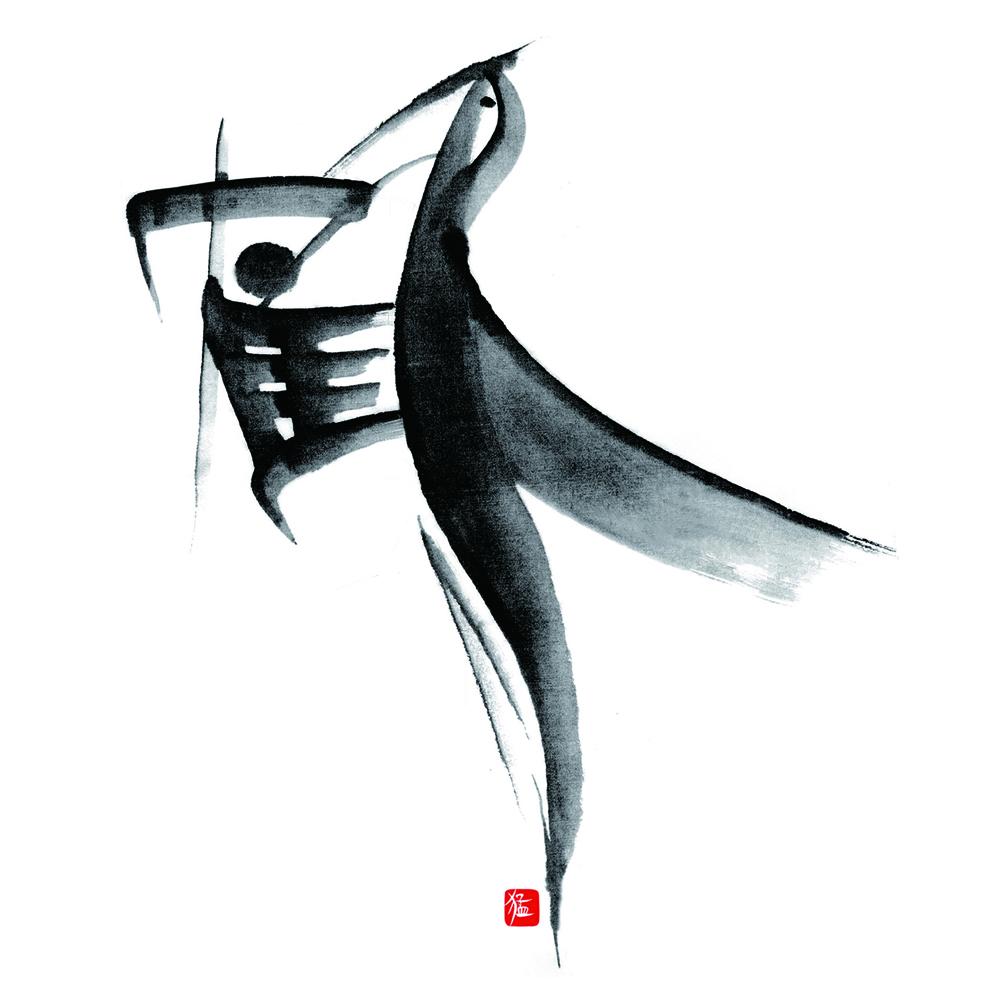 遊書作品「鶴」